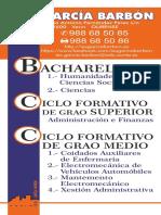 Oferta formativa do IES García Barbón