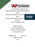 Proceso industrial de la obtencion del Zinc.docx