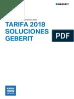 GEBERIT Tarifa 2018 Soluciones