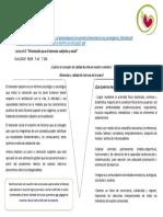 """Lectura 5.1 """"Orientación para el bienestar subjetivo y social"""""""