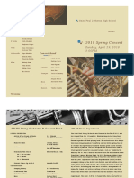 band orchestra concert program