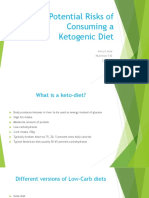 the potential risks from consuming a ketogenic diet