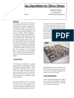 Maze Solving Algorithms for Micro Mouse - Semantic Scholar
