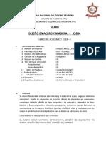 Silabus Diseño en Acero y Madera 2016 i