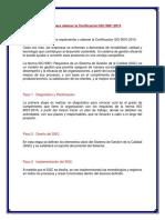 Pasos Para Obtener La Certificación ISO 9001