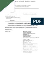 4-17-18 Doe v Mattis Redacted Notice