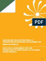 ANÁLISIS DEL CICLO DE VIDA PARA LA PRODUCCIÓN DE BIOETANOL EN COLOMBIA POR MEDIO DE OPENLCA