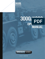 Allison Transmision Om3753en, 3000-4000 Sp Series Operators Manual