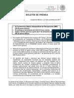 Boletín de Prensa Comisión Nacional de Los Salarios Minimos 2018