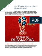188BET uy tin - Nen Choi Ca Cuoc Bong Da World Cup 2018 o Nha Cai Nao La Yen Tam Nhat