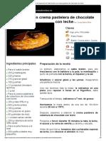 Hoja de Impresión de Sablé Bretón Con Crema Pastelera de Chocolate Con Leche