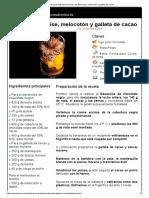 Hoja de Impresión de Vaso de Bavaroise, Melocotón y Galleta de Cacao