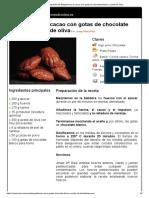 Hoja de Impresión de Magdalenas de Cacao Con Gotas de Chocolate Blanco y Aceite de Oliva