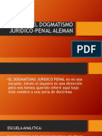 El Dogmatismo Juridico-penal Aleman