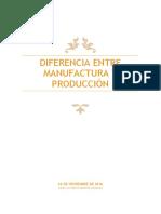 Diferencia Entre Manufactura y Producción