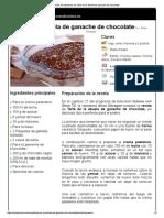 Hoja de Impresión de Tarta de La Abuela de Ganache de Chocolate