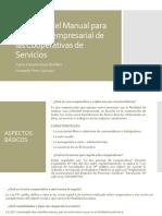 Resumen Del Manual Para La Gestión Empresarial De las cooperativas de servicios