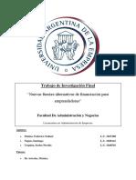 Nuevas Fuentes Alternativas de Financiación Para Emprendedores