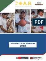 Prospecto Coar 2018 - Proceso Inscripcion