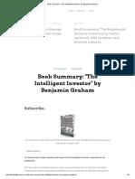 Book Summary_ _The Intelligent Investor_ by Benjamin Graham