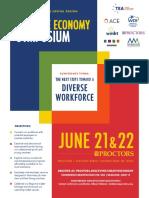 Creative Economy Symposium 2018 Schedule Flyer