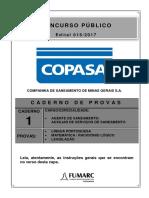 Fumarc 2017 Copasa Agente de Saneamento Prova