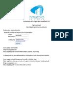 Instrucciones de La Pagina Web Inmobiliaria
