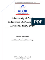 Apparel internship at Alok Report