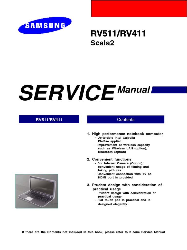 manual de servicio samsung rv511 bios booting
