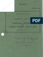 TM E9 1984 Disposal Methods for Enemy Bombs & Fuzes