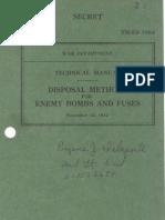 TM E9 1984 Disposal Methods for Enemy Bombs & Fuzes