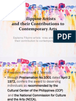 4.1 Introduction to Philippine Artists and Their Contributions to Contemporary Arts (1)