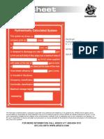 Hydraulic System Sign NFPA 5x7 TechData