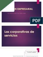 Gestión empresarial de las Corporativas de Servicios