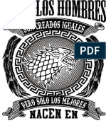 Serigrafia y Sublimacion Leyenda Lobo Juego de Tronos