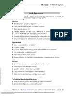Manual Para Un Plan de Negocios ---- (Plan de Operaciones)
