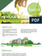 Vidrio reciclado Socya