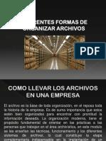 formas de organizar los archivos