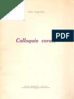 """Aldo Capitini, """"Colloquio corale"""""""