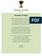 Private Prayer - Sheaves of Grain - 51