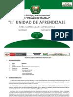 II Unidad Didáctica Matematica 2018