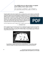 multimode interference  mmi  devices in silicon hollow waveguide technology for military electro-optic systems