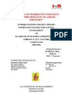 A Study of Marketing Strategy and Performance of Airtel Industry New