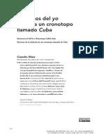 Claudio Maiz Discursos Del Yo Frente a un cronotopo llamado Cuba