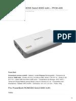 PowerBank ROMOSS Solo3 6000 MAh PH30-406