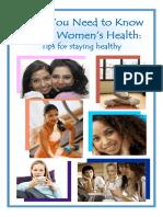 Women's Health Booklet 1-10