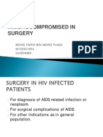 Immunocompromised and Surgery
