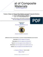 Torsion of Open and Closed Thin-Walled Laminated Composite Sections