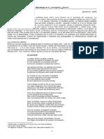 Metodología de La Investigación Literaria - Teóricos (Dalmaroni) Cursada 2005