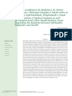 Percepção de Academicos de Medicina e de Outras Areas Da Saude e Humanas Sobre as Relações Entre Espiritualidade, Religiosidade e Saúde